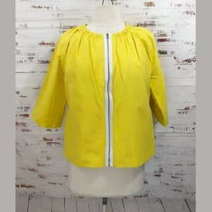 Joseph A. Windbreaker Jacket 12 Yellow 3/4 Sleeve